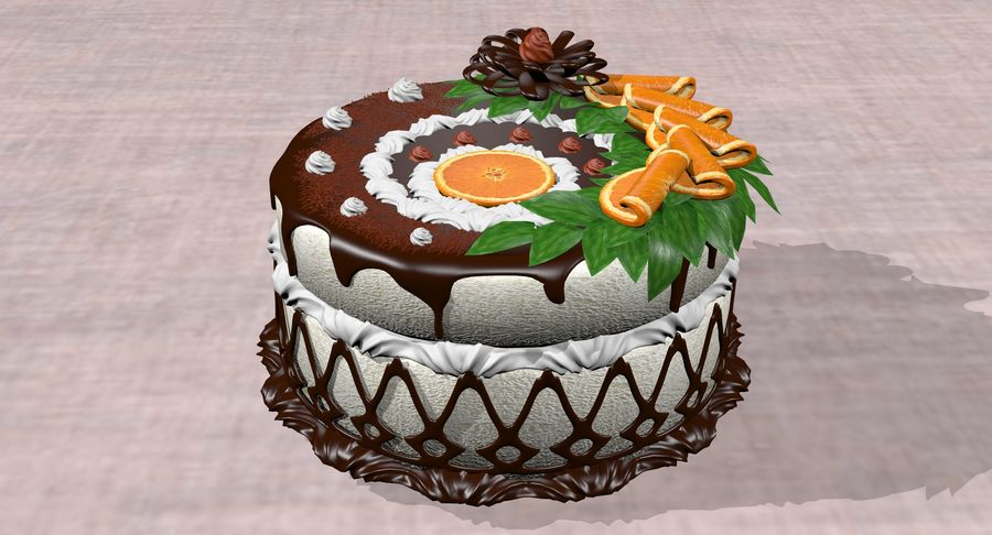 juicy cake(1) royalty-free 3d model - Preview no. 4