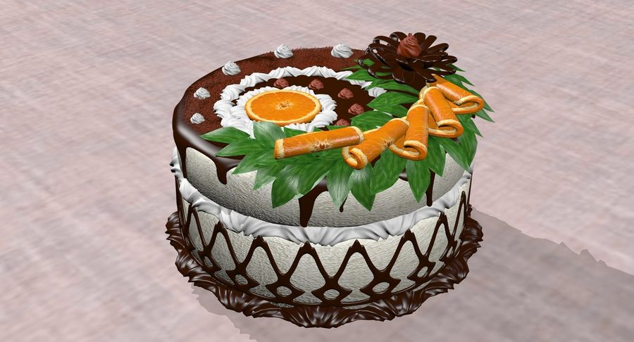juicy cake(1) royalty-free 3d model - Preview no. 5