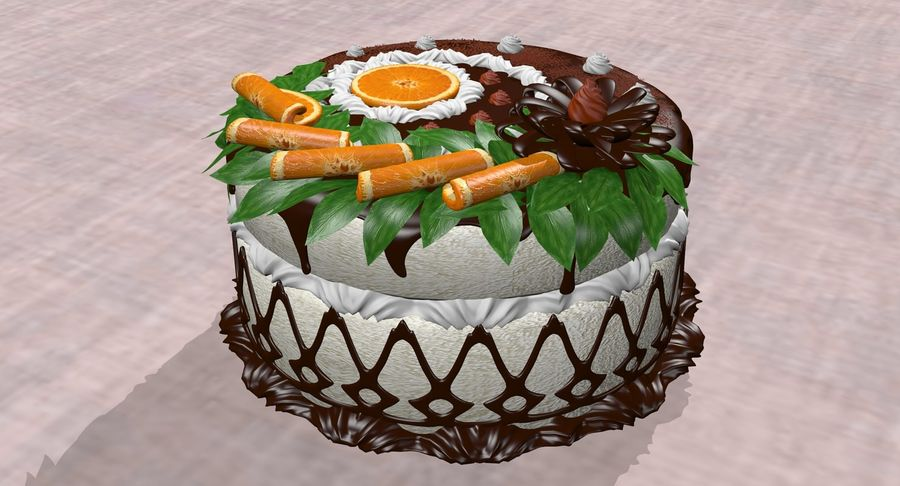 juicy cake(1) royalty-free 3d model - Preview no. 6