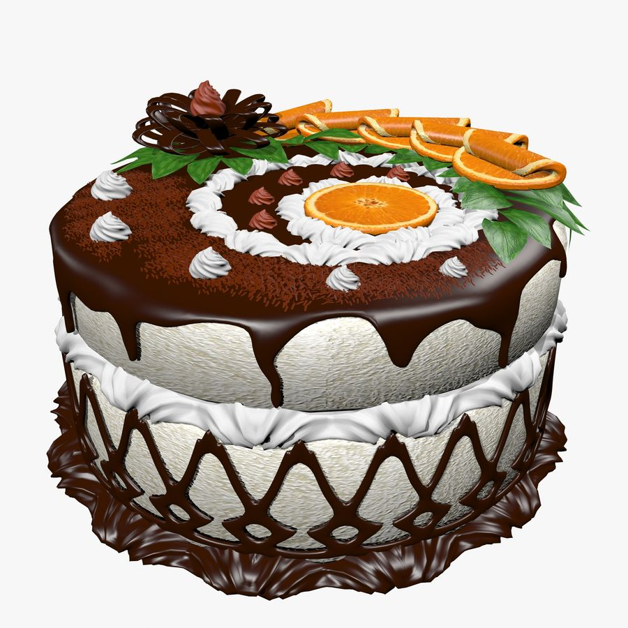 juicy cake(1) royalty-free 3d model - Preview no. 1
