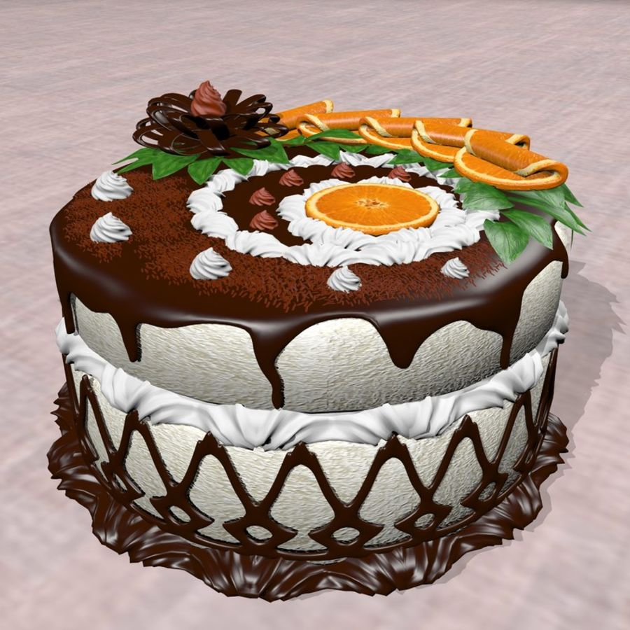 juicy cake(1) royalty-free 3d model - Preview no. 2
