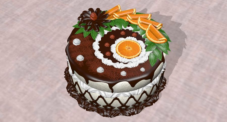 juicy cake(1) royalty-free 3d model - Preview no. 9