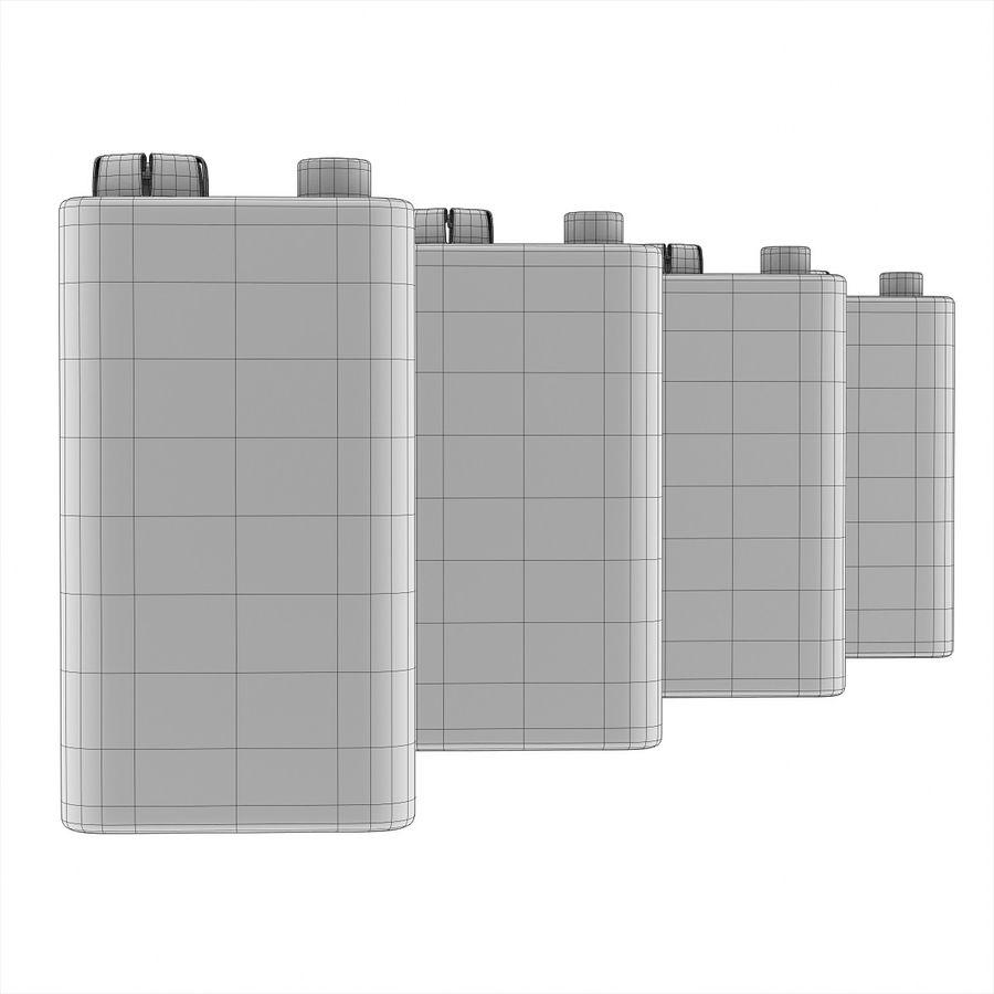 9V块电池 royalty-free 3d model - Preview no. 9