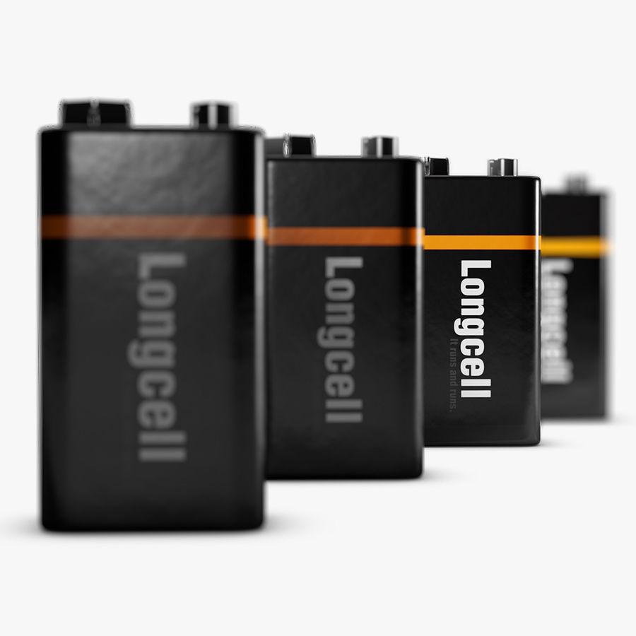 9V块电池 royalty-free 3d model - Preview no. 4