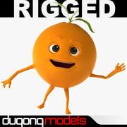 Cartoon Orange Rigged 3d model