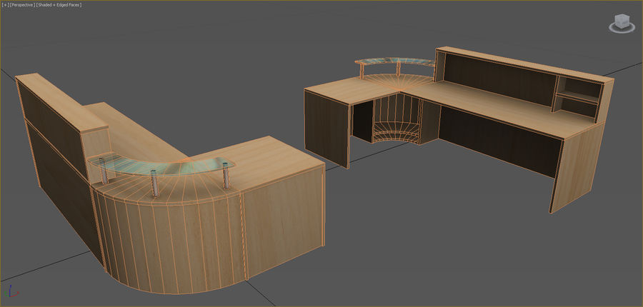 Office Furniture Collection royalty-free 3d model - Preview no. 52