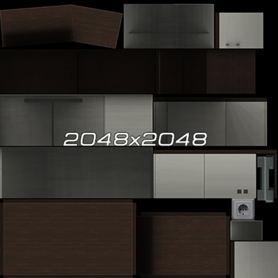 Office Furniture Collection royalty-free 3d model - Preview no. 98
