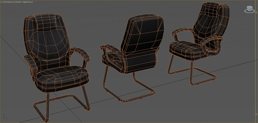 Office Furniture Collection royalty-free 3d model - Preview no. 37