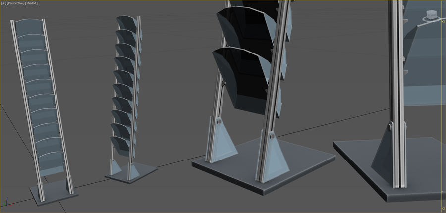 Office Furniture Collection royalty-free 3d model - Preview no. 69