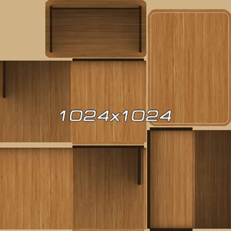Office Furniture Collection royalty-free 3d model - Preview no. 101
