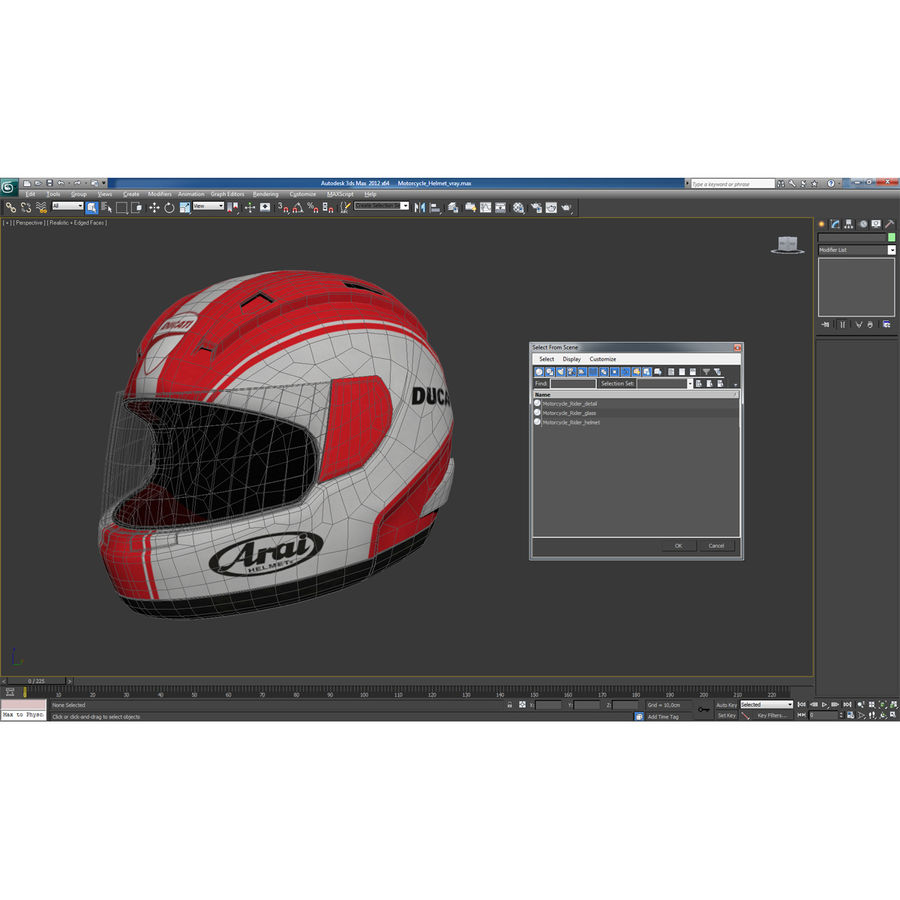 Motorcycle Helmet royalty-free 3d model - Preview no. 23
