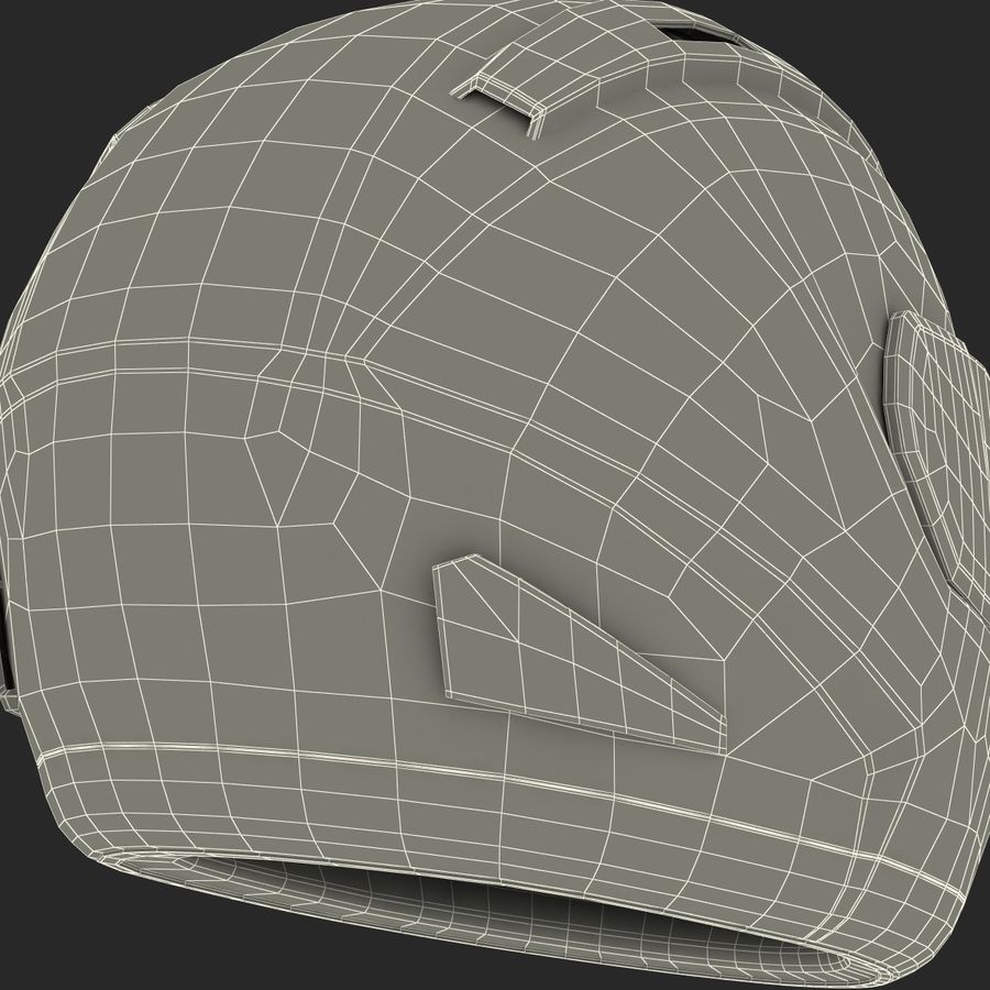 Motorcycle Helmet royalty-free 3d model - Preview no. 29