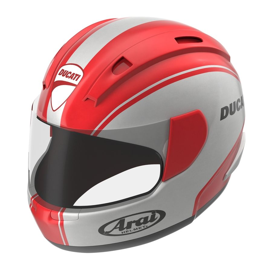 Motorcycle Helmet royalty-free 3d model - Preview no. 5