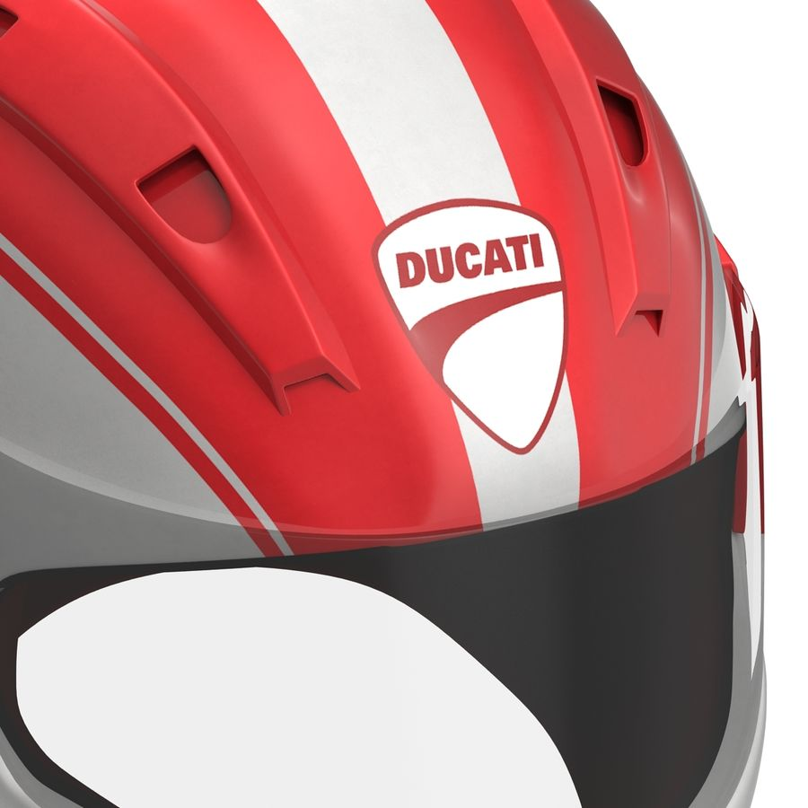 Motorcycle Helmet royalty-free 3d model - Preview no. 14