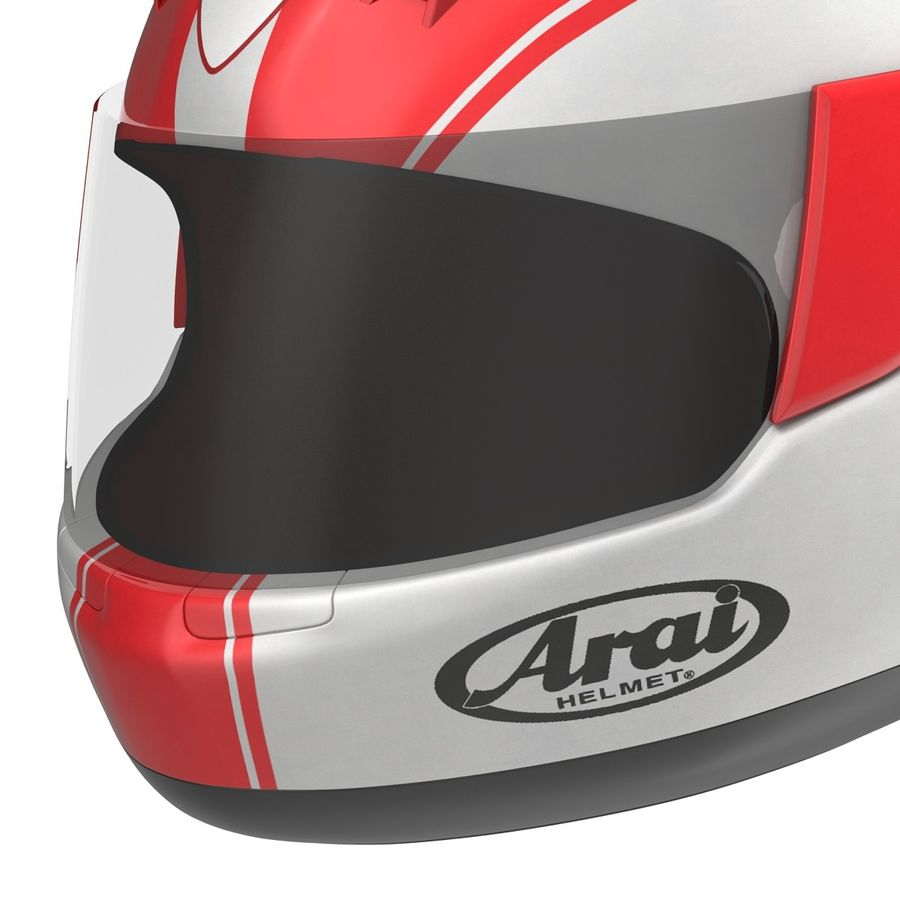 Motorcycle Helmet royalty-free 3d model - Preview no. 13