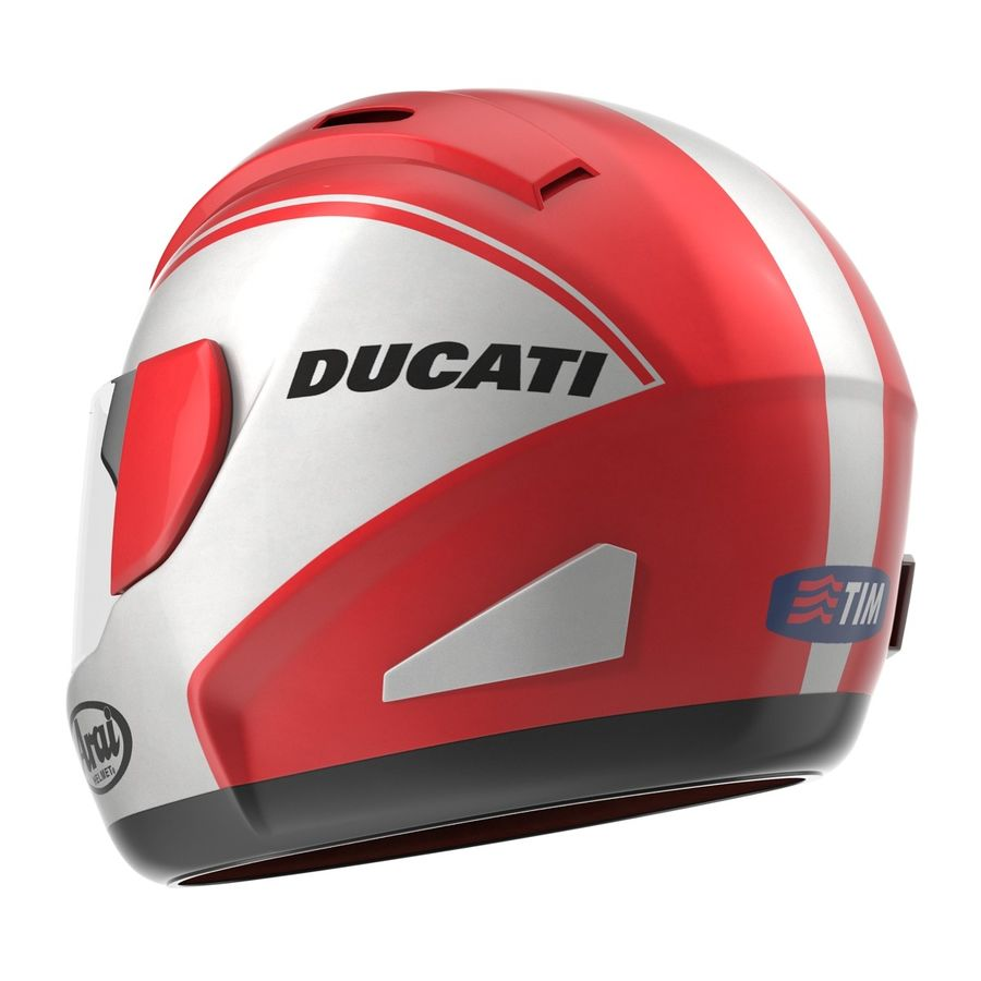 Motorcycle Helmet royalty-free 3d model - Preview no. 8
