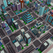 Cartoon City Modern Pack 1 - Toon Cityscape 3d model