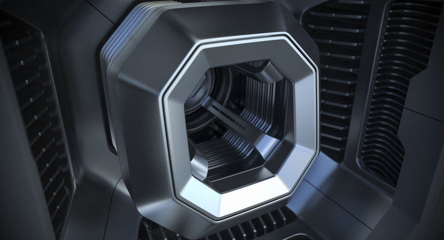 Sci Fi Box royalty-free 3d model - Preview no. 8