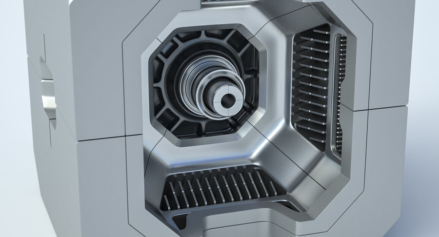 Sci Fi Box royalty-free 3d model - Preview no. 4