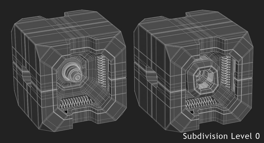 Sci Fi Box royalty-free 3d model - Preview no. 13