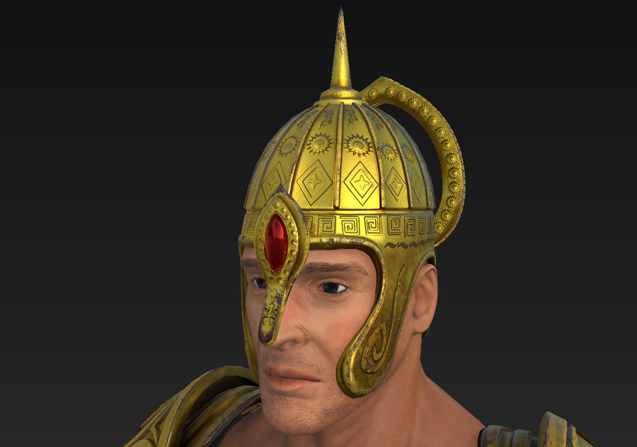 Ancien guerrier royalty-free 3d model - Preview no. 10