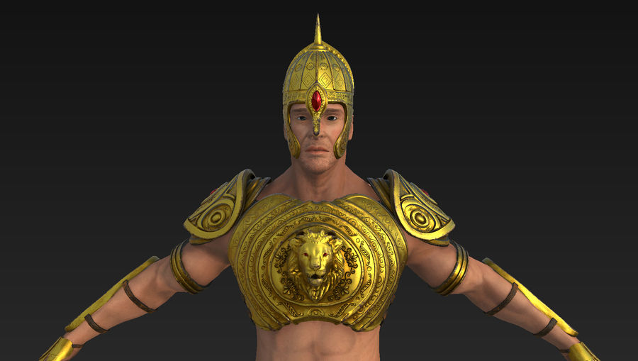 Ancien guerrier royalty-free 3d model - Preview no. 6