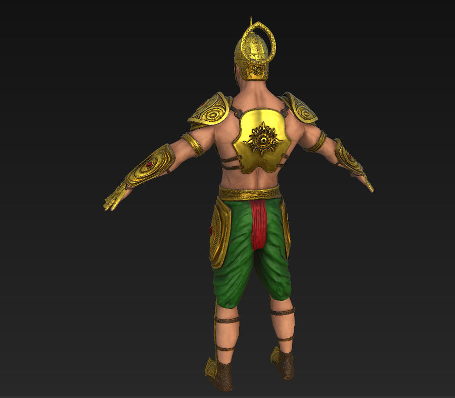 Ancien guerrier royalty-free 3d model - Preview no. 7