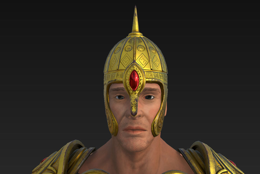 Ancien guerrier royalty-free 3d model - Preview no. 11