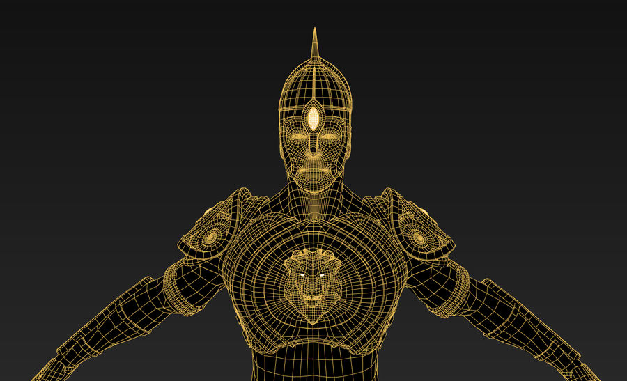 Ancien guerrier royalty-free 3d model - Preview no. 5