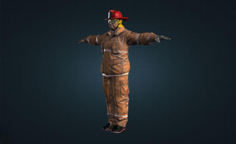 пожарный royalty-free 3d model - Preview no. 4