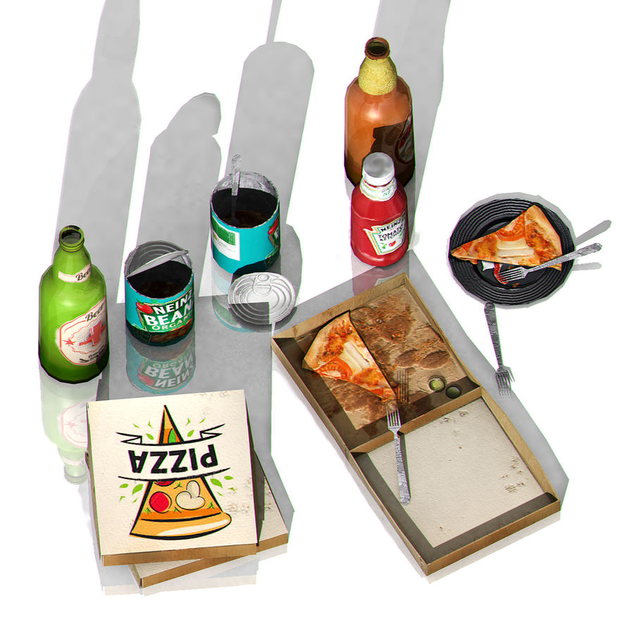 Game Props: Food Set royalty-free 3d model - Preview no. 4
