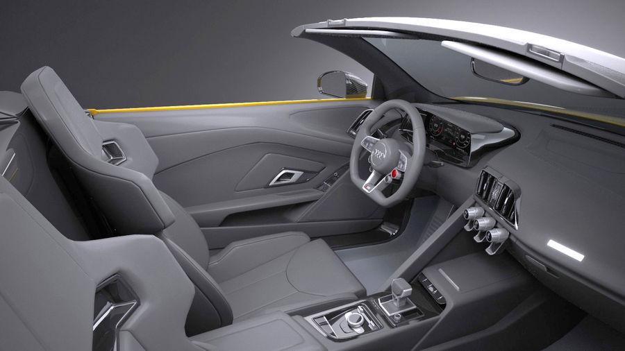 Audi R8 Spyder V10 2017 royalty-free 3d model - Preview no. 9