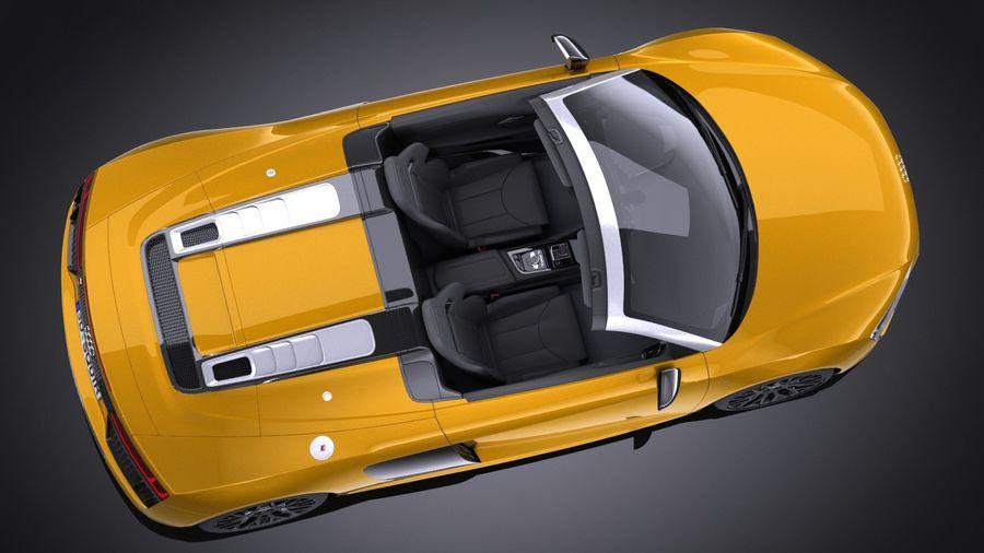 Audi R8 Spyder V10 2017 royalty-free 3d model - Preview no. 8
