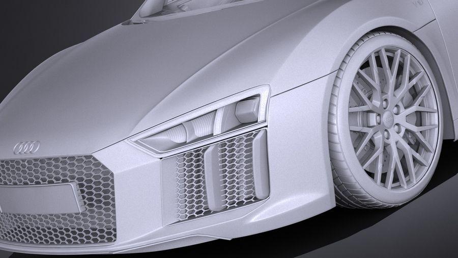 Audi R8 Spyder V10 2017 royalty-free 3d model - Preview no. 13