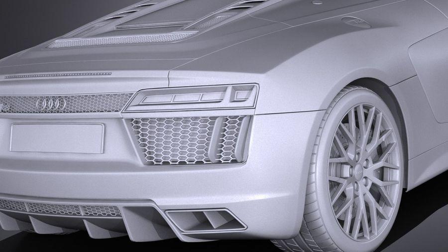 Audi R8 Spyder V10 2017 royalty-free 3d model - Preview no. 14