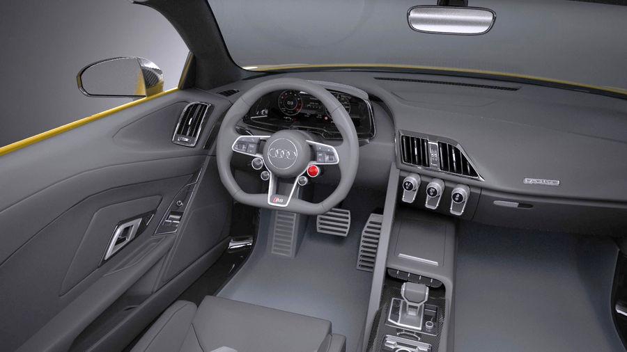Audi R8 Spyder V10 2017 royalty-free 3d model - Preview no. 10