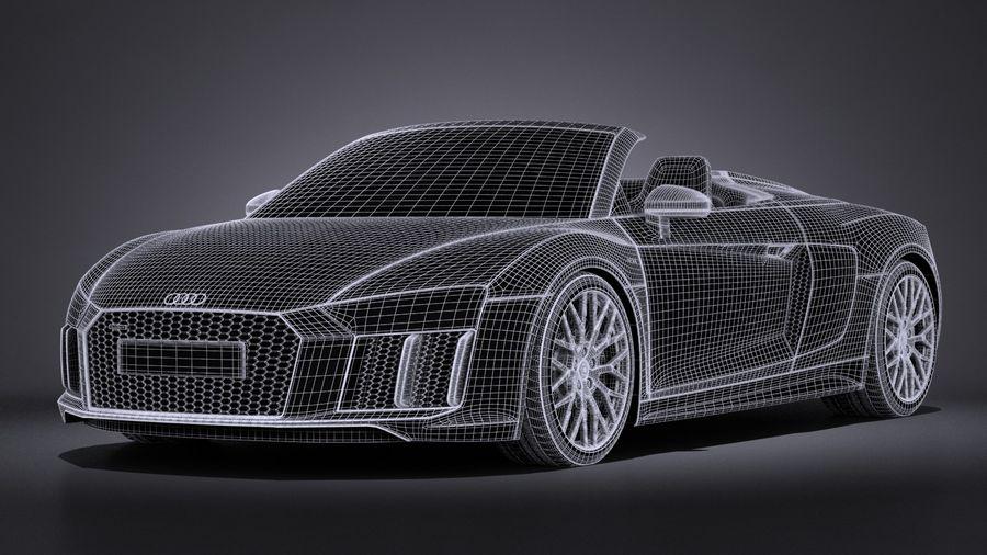 Audi R8 Spyder V10 2017 royalty-free 3d model - Preview no. 17