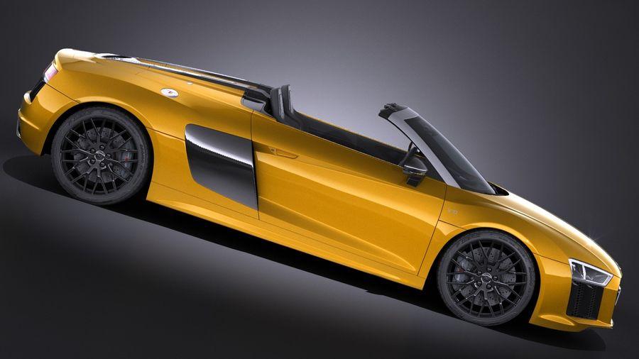 Audi R8 Spyder V10 2017 royalty-free 3d model - Preview no. 7