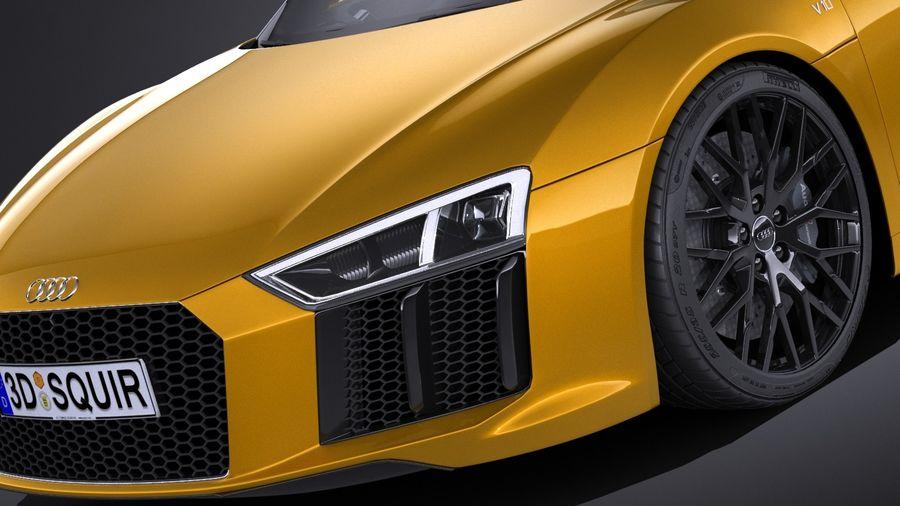 Audi R8 Spyder V10 2017 royalty-free 3d model - Preview no. 3