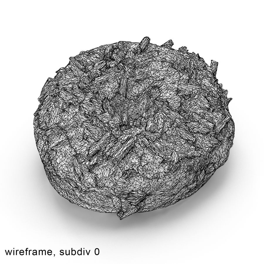 Chocolate Doughnut royalty-free 3d model - Preview no. 9