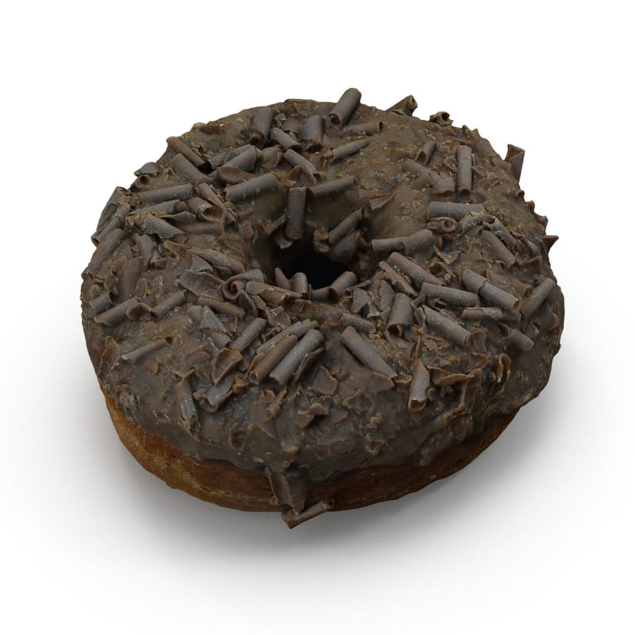 Chocolate Doughnut royalty-free 3d model - Preview no. 1