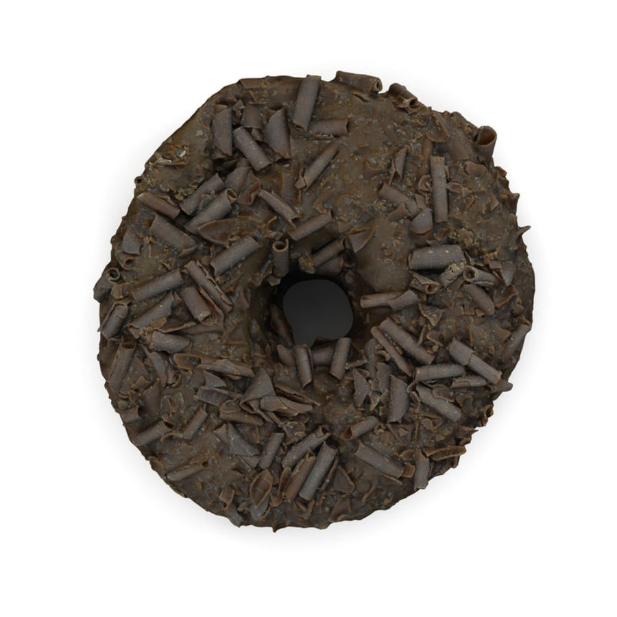 Chocolate Doughnut royalty-free 3d model - Preview no. 2