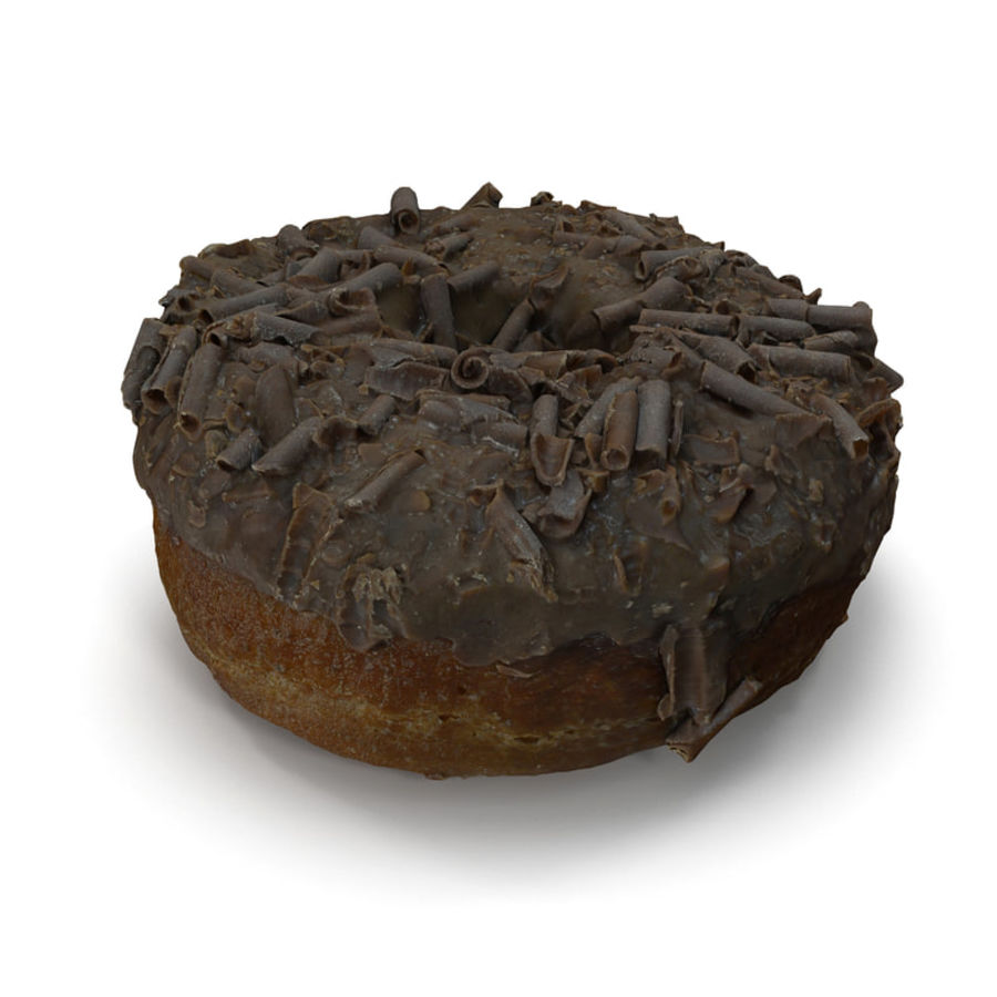 Chocolate Doughnut royalty-free 3d model - Preview no. 5