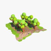 Cartoon-Obstgarten 3d model