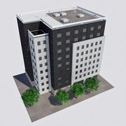 Modern Office City Building - HD Cityscape Corner Tile 3 3d model