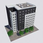 Современное офисное городское здание - HD Cityscape Corner Tile 3 3d model
