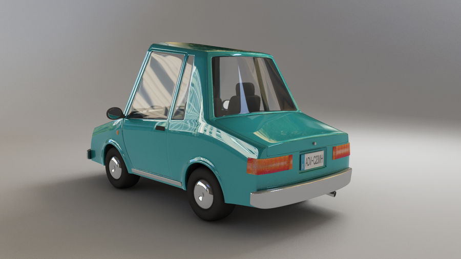 carro dos desenhos animados royalty-free 3d model - Preview no. 3