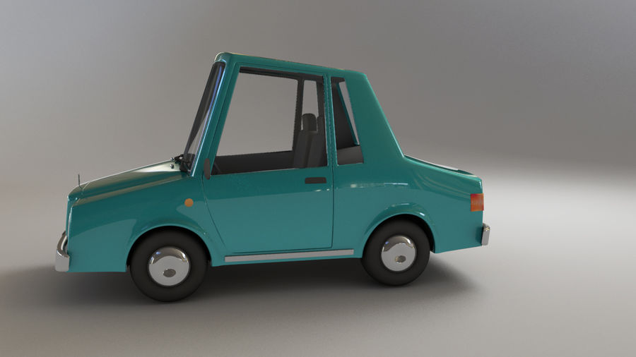 carro dos desenhos animados royalty-free 3d model - Preview no. 4