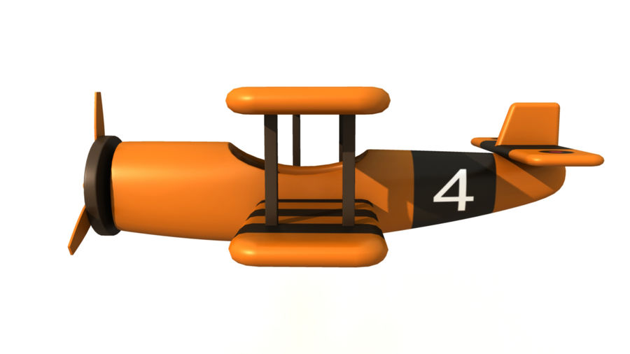 Toy AirPlane royalty-free 3d model - Preview no. 3