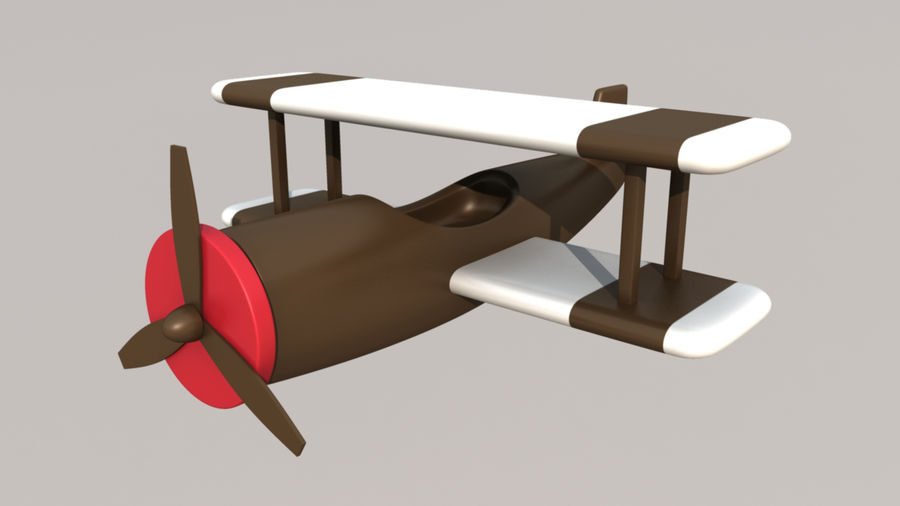 Toy AirPlane royalty-free 3d model - Preview no. 2
